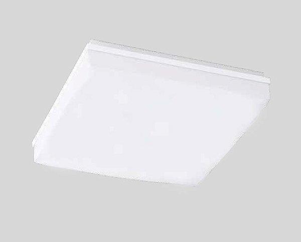 Plafon Pillow Sobrepor Vidro Branco Metal Quadrado 11x25cm Newline 2x E27 25W Bivolt 1695BR Entradas e Quartos