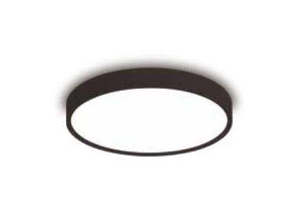 Plafon Ring Redondo Sobrepor Alumínio Preto Acrílico 10,5x16cm Newline 2x E27 11W Bivolt 9049PT Salas e Quartos