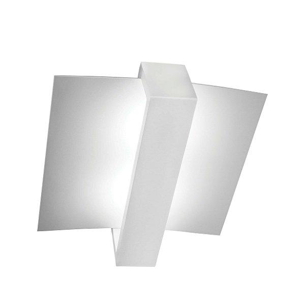 Plafon Aile Moderna Vertical Curva Alumínio 50x43cm Newline 5x PCI LED 6W 192BTBT Corredores e Salas