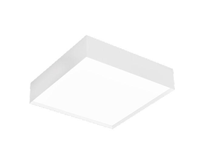Plafon Sobrepor II Acrílico Quadrado Alumínio 46x10,2cm Newline 6x E27 25W Bivolt IN40082BT Quartos e Banheiros