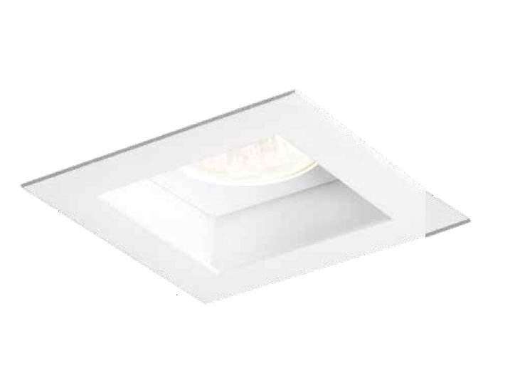 Spot Flat LED Embutido Quadrado Metal Branco 8,5x11cm Newline 1x E27 PAR20 50W IN65003BT Entradas e Salas