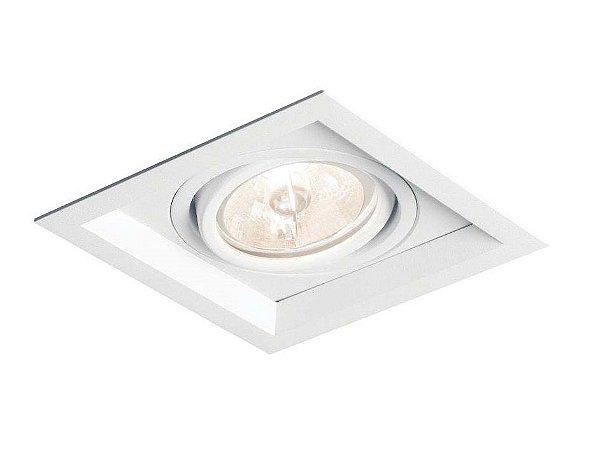 Spot Recuado II Embutido Direcionável Alumínio 7,5x11,7cm Newline 1x GU10/GZ10 PAR16 IN50321BT Corredores e Salas
