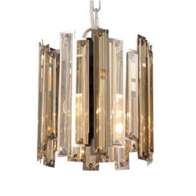 Pendente Mantra 30523 MILANO COGNAC Placas de Cristal   1 Lamp  E27 BIVOLT D-20cm H-23cm Salas e Mesas Jantar