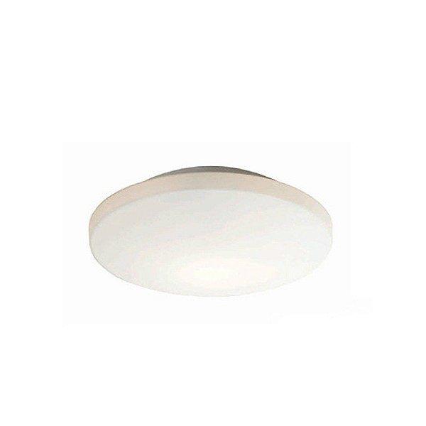 Plafon Mantra 30242 Redondo Vidro Branco CERC LED 12W BIVOLT D 30,8cm H-11,5cm Quartos e Salas
