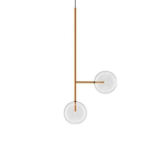 PENDENTE Klaxon Together ll Vertical Esfera Bola Vidro Moderno 57,2 cm x 57,2 cm x 25 cm