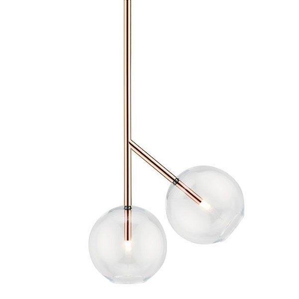 PENDENTE Klaxon Together lll Suspenso Esfera Bola Vidro Moderno 50,5 cm x 36,8 cm x 25 cm