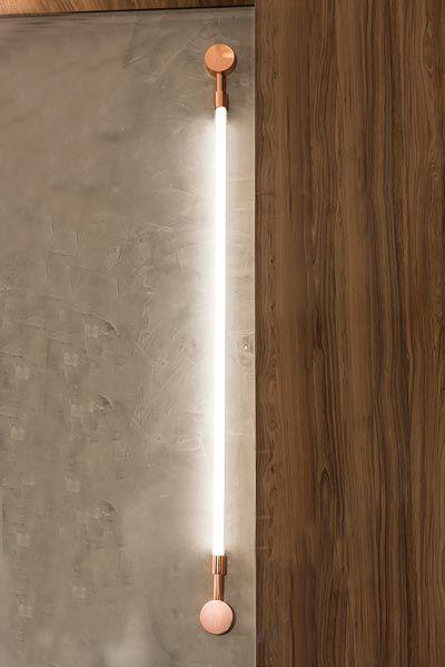 Arandela  LUMINÁRIA Klaxon LUXEMBOURG G Tubular Led Moderna  8 cm x 154 cm x 4 cm
