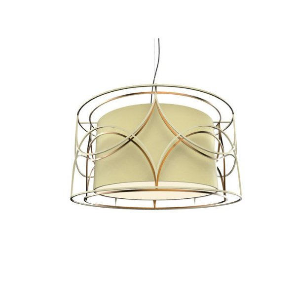 PENDENTE Klaxon BELLO DOPPIO Cupula Tecido Aramado Redondo  60 cm x 30 cm x 60 cm