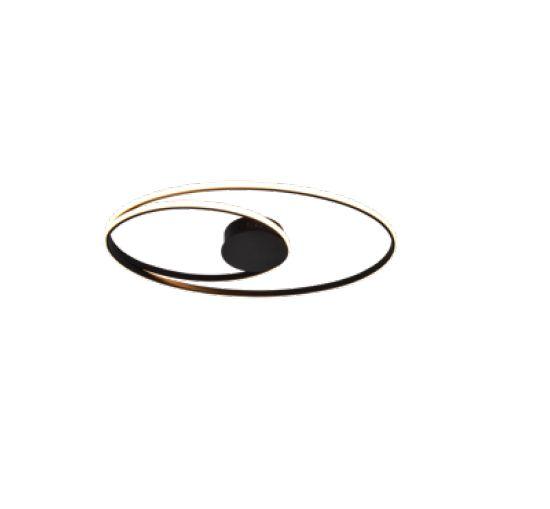 PLAFON QUALITY NLI PL1343PT METAL Aros Redondo esfera moderno 69X38X5CM LED 56W PRETA