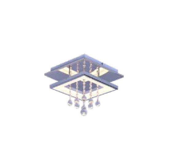 PLAFON QUALITY NLI QPL1336G METAL LED Quadrado Suspenso Cristal Espelhado 45 x 45 x A28 cm 18W 3000K