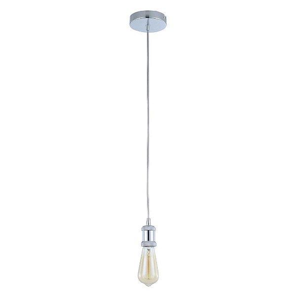 PENDENTE Bella AP001C Vertical Filamento TILT 4,7cm x 8,4cm  1xE27 BIVOLT Cromado