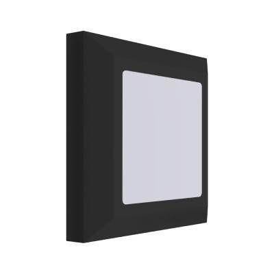 ARANDELA Bella DL129PT MATTE  Quadrada Sobrepor Preta 5W LED A2,8xL12,4XC12,4