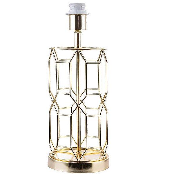 BASE PARA ABAJUR Bella DISEGNO GL002G Aramado Moderno Dourado 15cm x 39cm  1x A60 40W