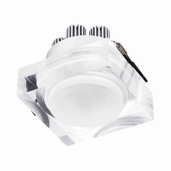 SPOT Bella EMBUTIDO Transparente Quadrado LG8570 MAT 1XLED 3W TR