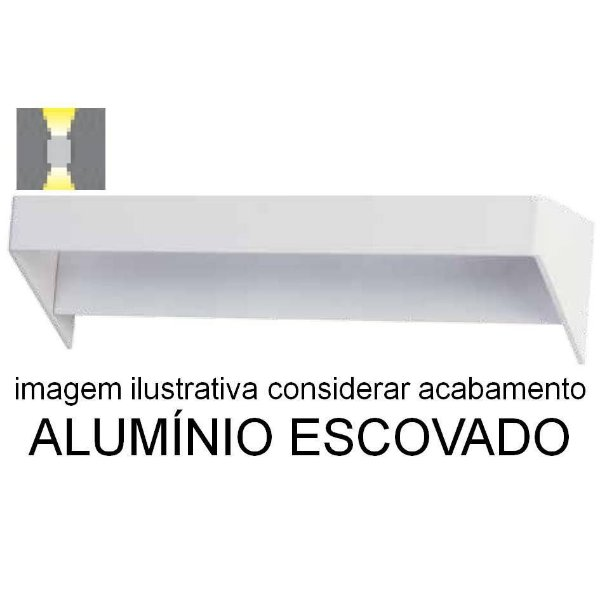 ARANDELA Bella LZ017A GO LED Aluminio Escovado Moderna 6W