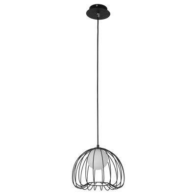 PENDENTE Bella ML003B LAMP Aramado Preto Branco 25cm x 21cm  1xG9 BIVOLT