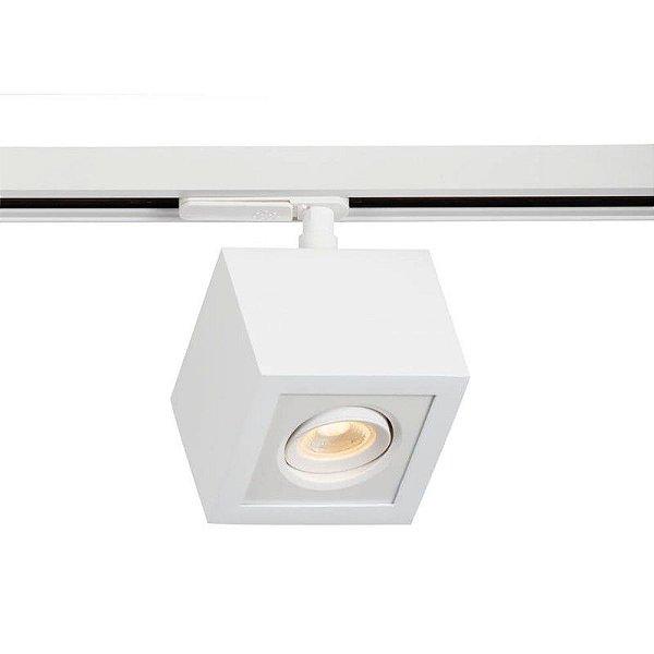 Spot Trilho Newline 560AB BOX LED Quadrado Clean 3W 3000K Luz Quente 225LM 127/220V 90X90X114MM ADAPTADOR BRANCO