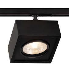 Spot Trilho Newline 563AP BOX LED Quadrado Clean 12W 3000K Luz Quente 900LM 127/220V 150X150X114MM ADAPTADOR PRETO