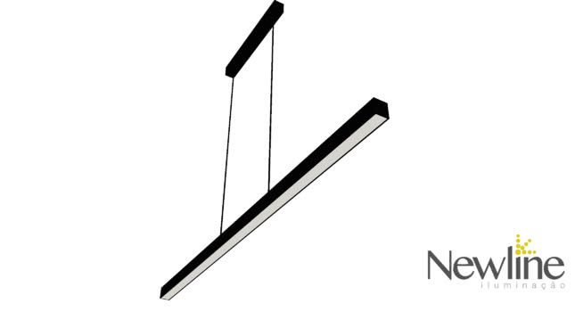 PENDENTE Newline 636LED3 FIT LED Perfil Clean 24W 3000K Luz Quente 127/220V 860X25X28MM