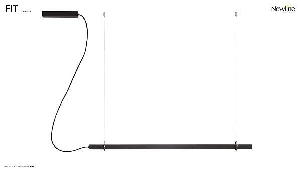 PENDENTE Newline 661LED3 FIT LED Perfil Moderno Suspenso 24W 3000K Luz Quente 127/220V 860X25X28MM