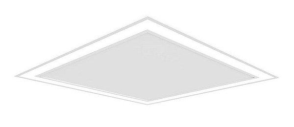 Plafon EMBUTIDO Newline FIT EDGE Led Quadrado Moderno EM0121LED3 16,8W 3000K Luz Quente 127/220V 230X230X40MM