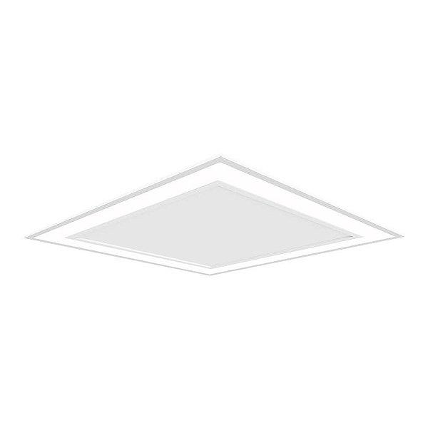 Plafon EMBUTIDO Newline FIT EDGE Led Quadrado Moderno EM0122LED3 25,2W 3000K Luz Quente 127/220V 295X295X40MM