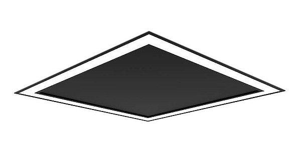 Plafon EMBUTIDO Newline FIT EDGE Led Quadrado Moderno EM0123LED3 33,6W 3000K Luz Quente 127/220V 420X420X40MM