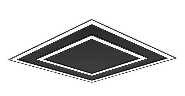 Plafon EMBUTIDO Newline FIT EDGE Led Quadrado Moderno EM0125LED4 65,6W 4000K Luz Fria 127/220V 616X616X40MM