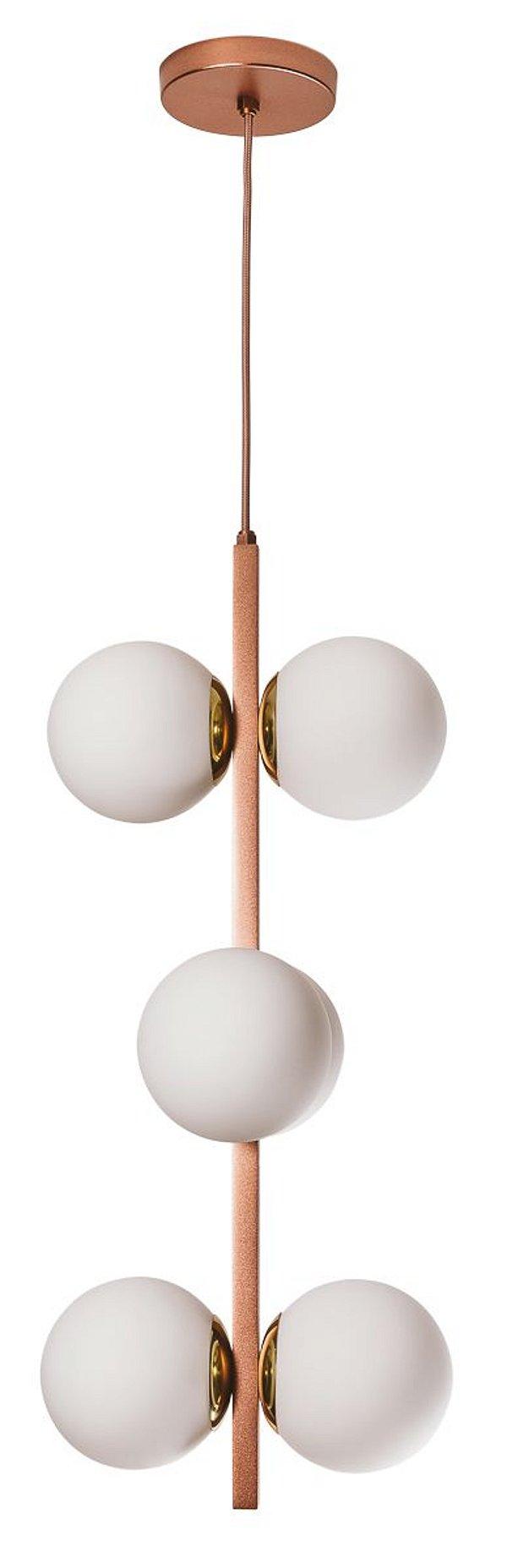 PENDENTE COSMOS 16545/6 Haste Moderno com Com GLOBOS de Vidro 14cm x Ø30x60x1m x 6- E27 - G45