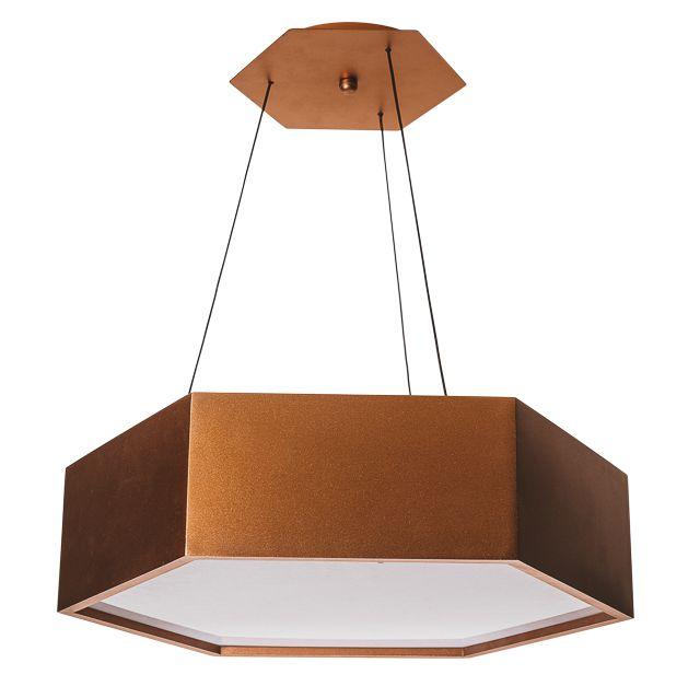 PENDENTE HEXA 16421/45 Usina Design Hexagonal Moderno x Ø45x12X1m x 4-E27