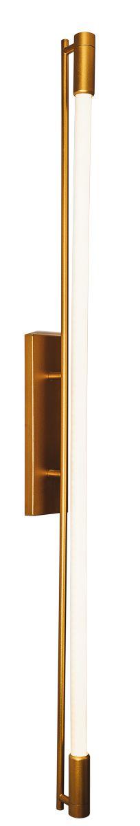 ARANDELA SLIM 16516/60 Usina Design Moderno Tubular (C/ CANOPLA RETANGULAR CENTRAL) x 8 x 66 cm x13 x 1 - T8 60 cm