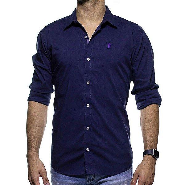 Camisa Social Sergio K Roxa Slim Fit