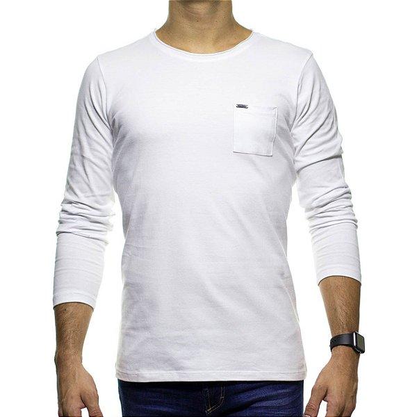 Camiseta Manga Longa Urbô Branco Liso