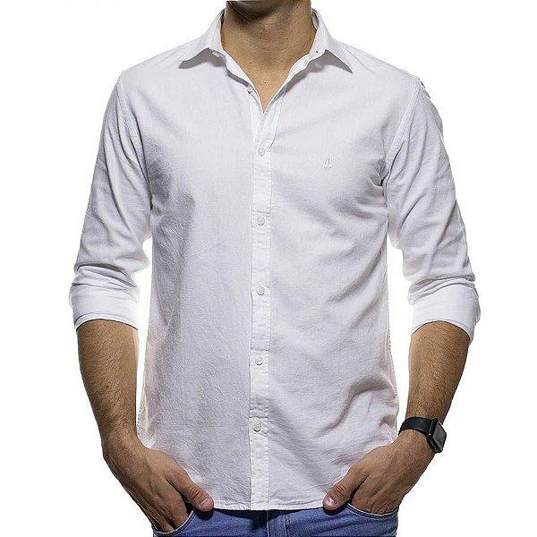 Camisa Social Foxton Branca Lisa Casual Fit