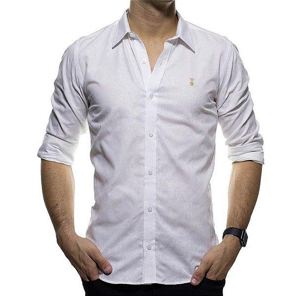 Camisa Social Sergio K Branca Detalhada Regular