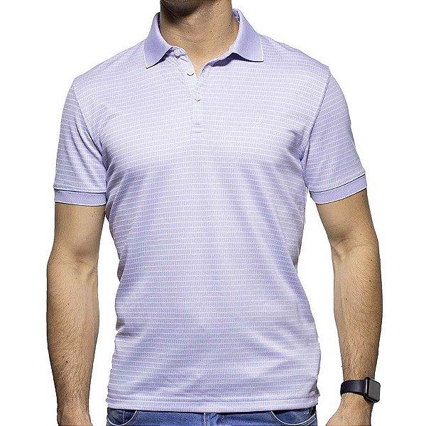 Camisa Polo VR Algodão Pima Roxa
