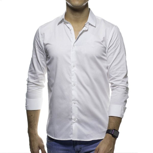 Camisa Social King e Joe Lisa Branca Regular Fit