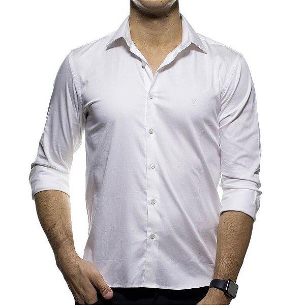 Camisa Social VR Branca Lisa Slim Fit