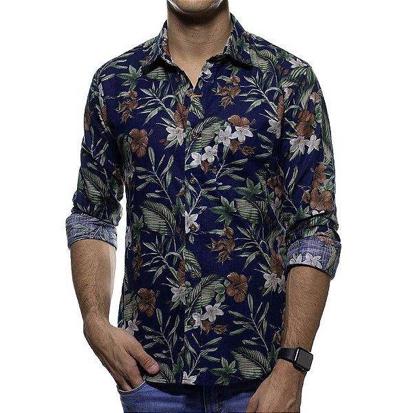 Camisa Social Sergio K Floral Slim Fit
