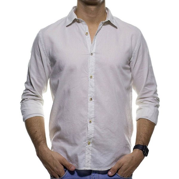 Camisa Social Foxton Relax Casual Fit