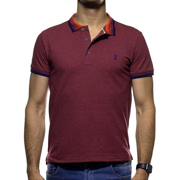 Camisa Polo Sergio K Vermelha  com Detalhe na Gola