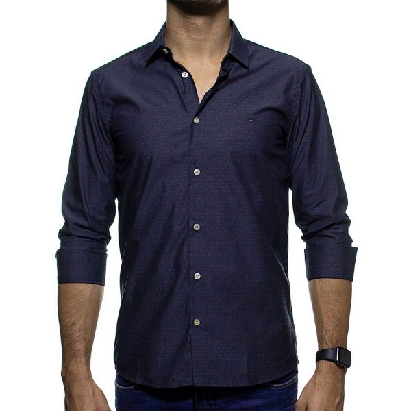 Camisa Social King e Joe Poa Chumbo Regular Fit