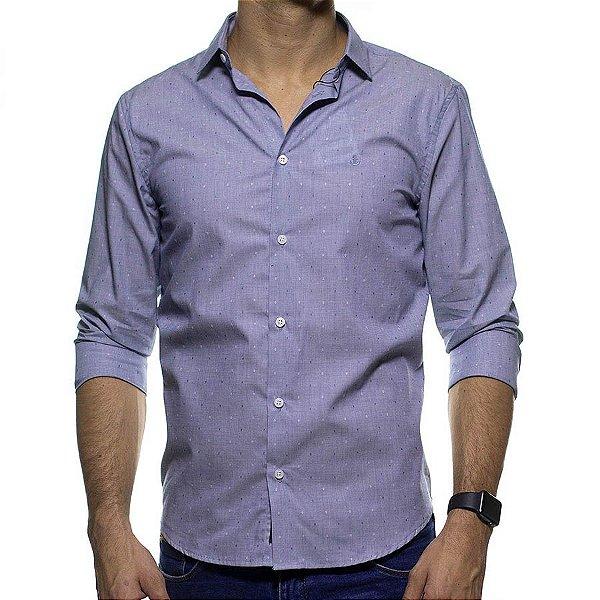 Camisa Social King e Joe Micro Estampa Cinza Regular Fit