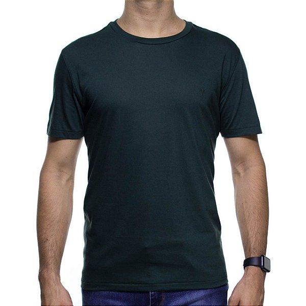 Camiseta de Malha VR Verde Básica em Algodão Pima