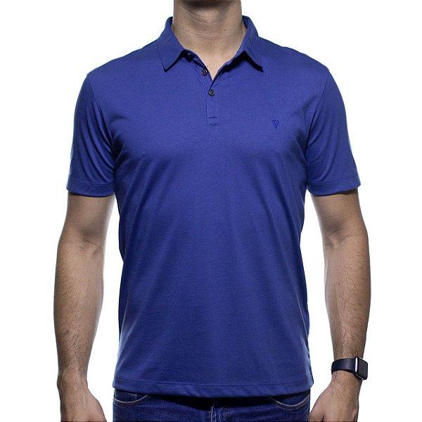 Camisa Polo VR Algodão Pima Azul Marinho Basica