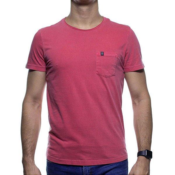 Camiseta Malha Sergio K Goiaba Lisa Com Bolso