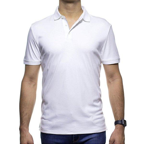 Camisa Polo Calvin Klein Branca Cotton