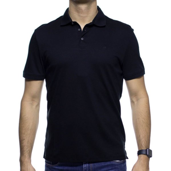 8e3113c07e Camisa Polo Calvin Klein Preta Cotton - Tio Sam Multimarcas