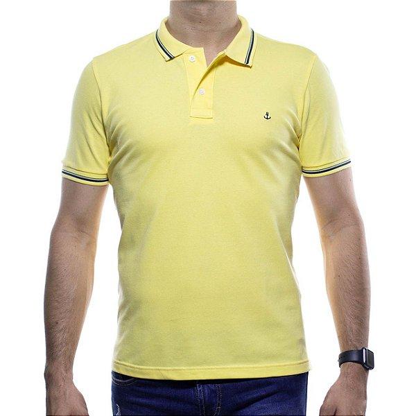 Camisa Polo King e Joe Amarela Basica
