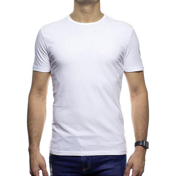 Camiseta de Malha VR Branca Basica 100% Algodão